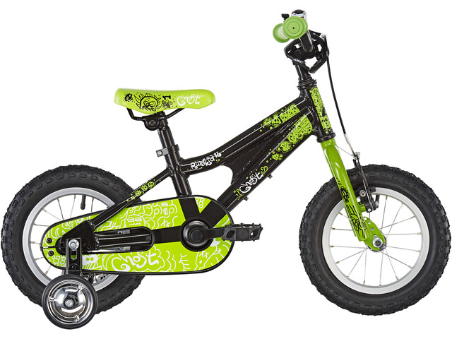 Ghost Powerkid AL 12 Kinder night black/riot green/star white